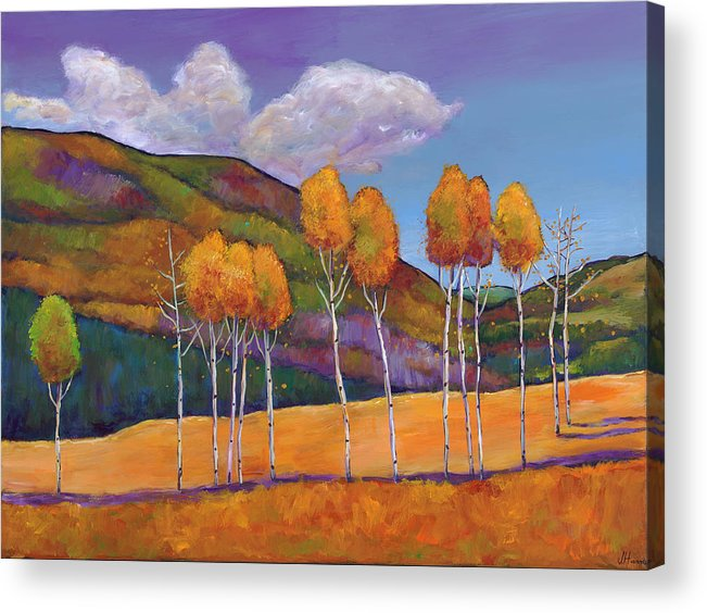 Autumn Acrylic Print featuring the painting Reminiscing by Johnathan Harris