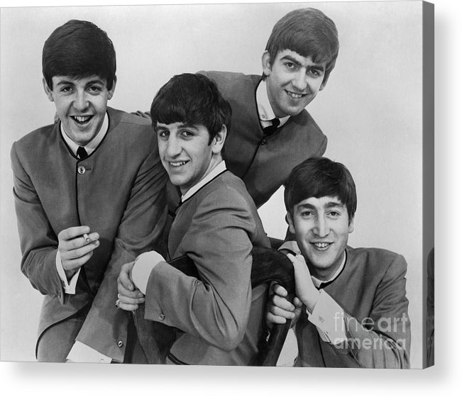 1963 Acrylic Print featuring the photograph The Beatles, 1963 by Granger
