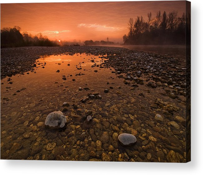 Landscape Acrylic Print featuring the photograph Water On Mars by Davorin Mance