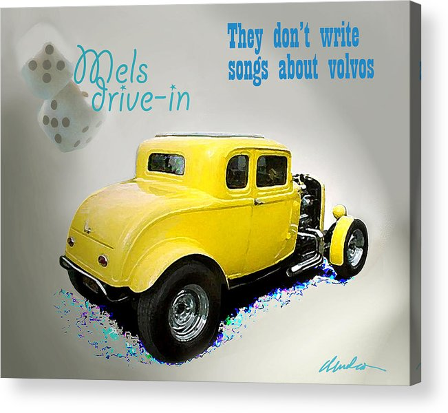 American Graffiti Acrylic Print featuring the photograph Milners Coupe by Barry Cleveland