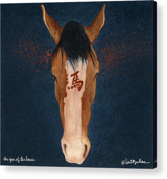 Will Bullas Acrylic Print featuring the painting The Year Of The Horse... by Will Bullas