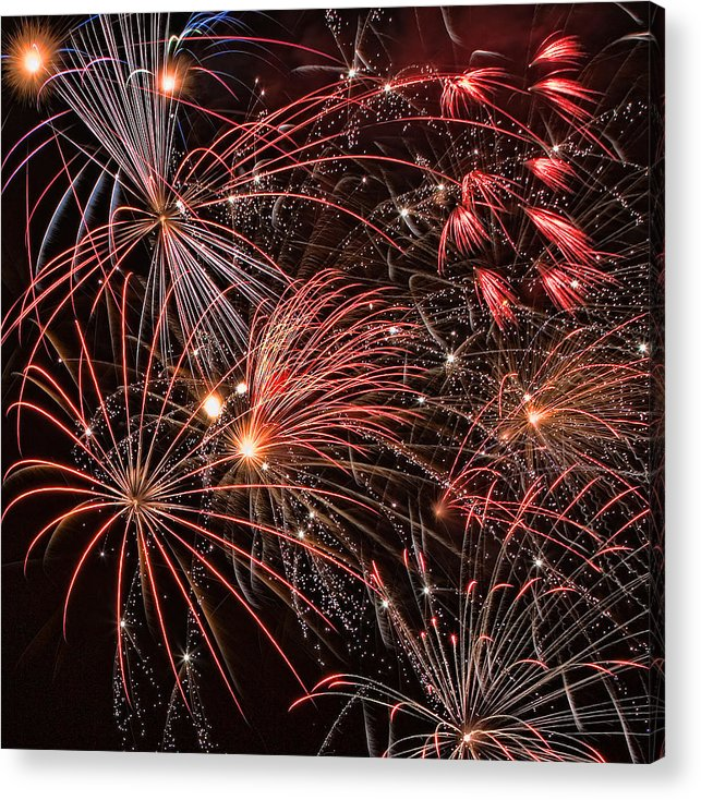 4th Of July Acrylic Print featuring the photograph Bursting by Peter Tellone