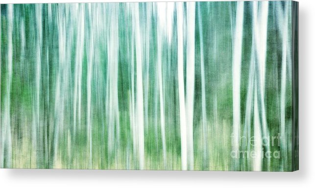 Abstract Acrylic Print featuring the photograph A Matter Of Blues by Priska Wettstein