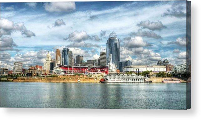 Cincinnati Acrylic Print featuring the photograph All American City 2 by Mel Steinhauer