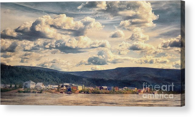 Klondike Acrylic Print featuring the photograph Dawson City by Priska Wettstein