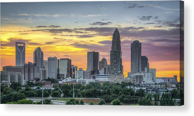 Charlotte Acrylic Print featuring the photograph New South Summer Sunset by Brian Young
