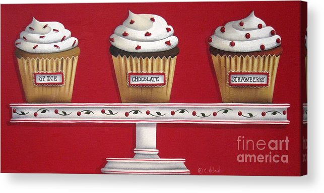 Art Acrylic Print featuring the painting Sweet Delights by Catherine Holman