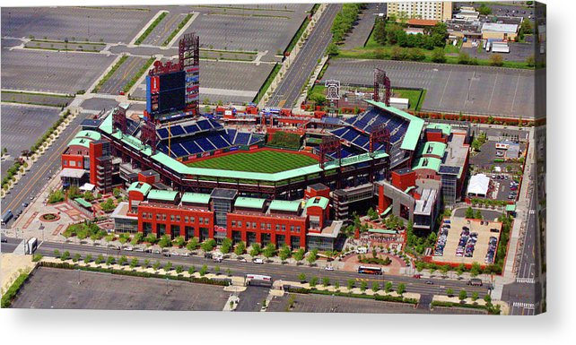 Phillies Acrylic Print featuring the photograph Phillies Citizens Bank Park by Duncan Pearson