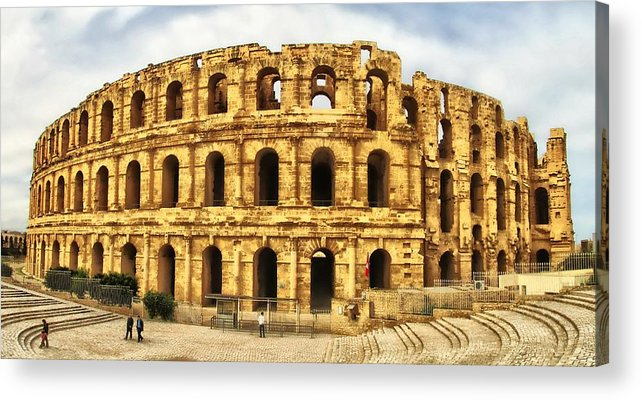Architectur Acrylic Print featuring the photograph El Jem Colosseum by Dhouib Skander