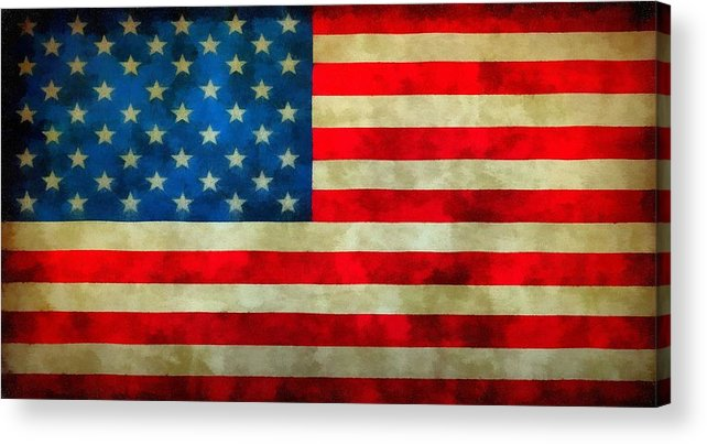Old Glory Acrylic Print featuring the painting Old Glory by Dan Sproul
