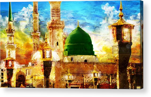 Islamic Acrylic Print featuring the painting Islamic Paintings 005 by Catf