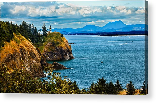 Lighthouse Acrylic Print featuring the photograph Overlooking by Robert Bales