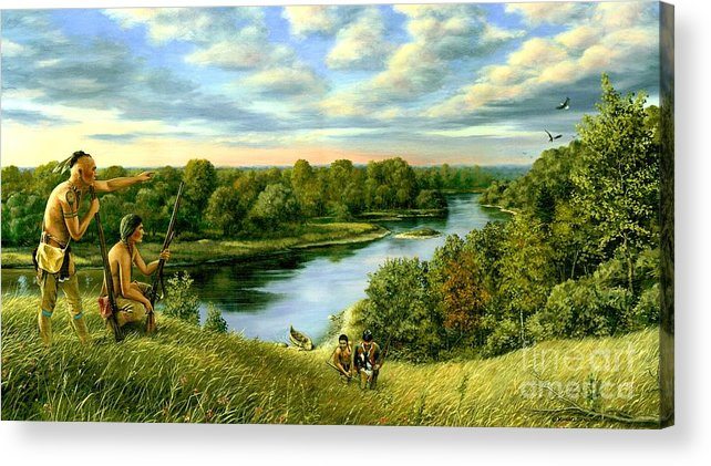 1780 Acrylic Print featuring the painting The Scouting Party by Michael Swanson