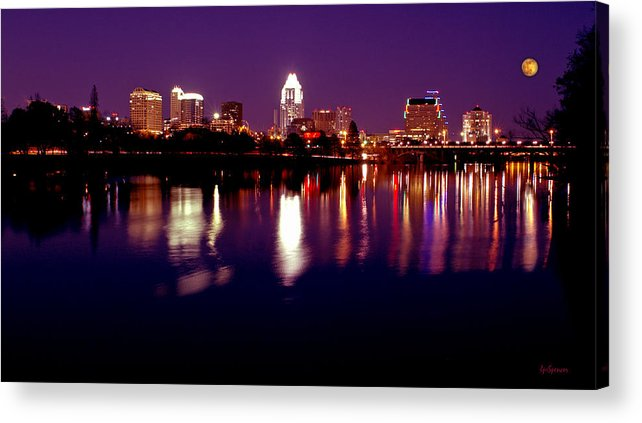 Cities Acrylic Print featuring the photograph Austin Sky Line In December 2004 by Lisa Spencer