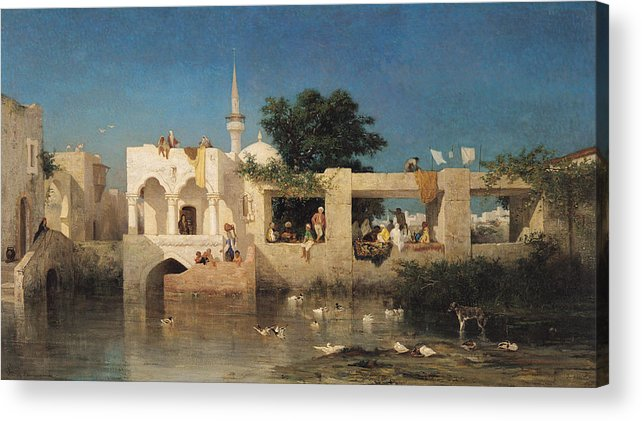 Cafe Acrylic Print featuring the painting Charles Emile De Tournemine by Cafe in Adalia