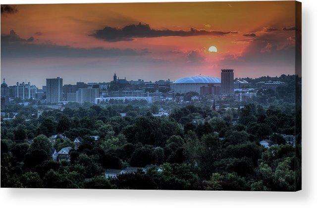 Syracuse Acrylic Print featuring the photograph Syracuse Sunrise by Everet Regal