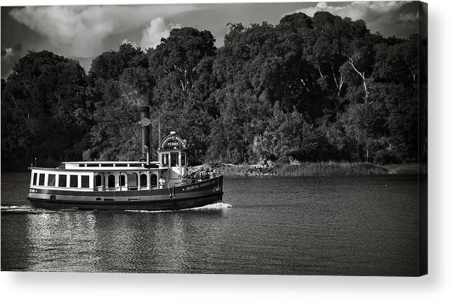 Black And White Acrylic Print featuring the photograph Ferry by Mario Celzner