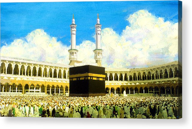 Islamic Acrylic Print featuring the painting Islamic Painting 006 by Catf