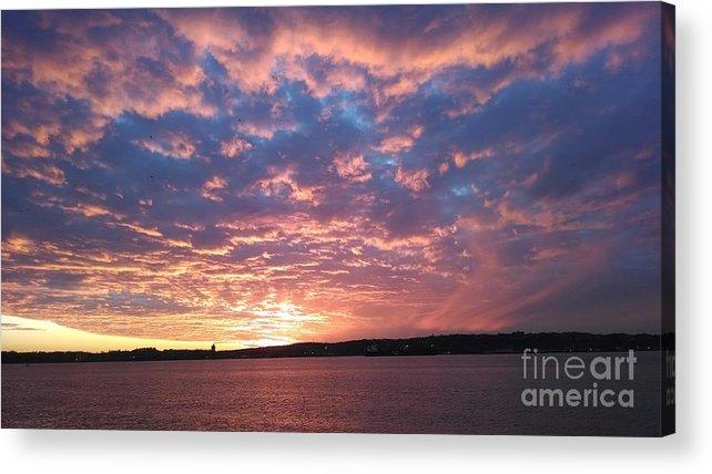 Sunset Over The Narrows Waterway Acrylic Print featuring the photograph Sunset Over The Narrows Waterway by John Telfer