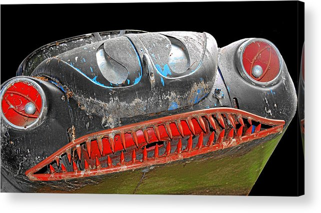 Horror Cars Acrylic Print featuring the photograph Some Cars Are Born Bad by Christine Till
