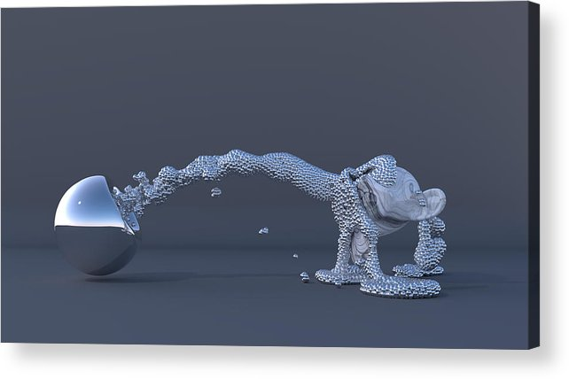 Ball Acrylic Print featuring the digital art The Evolution Of Man by Andre Deherrera