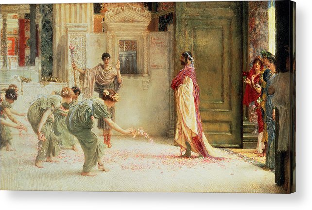 Caracalla Acrylic Print featuring the painting Caracalla by Sir Lawrence Alma-Tadema