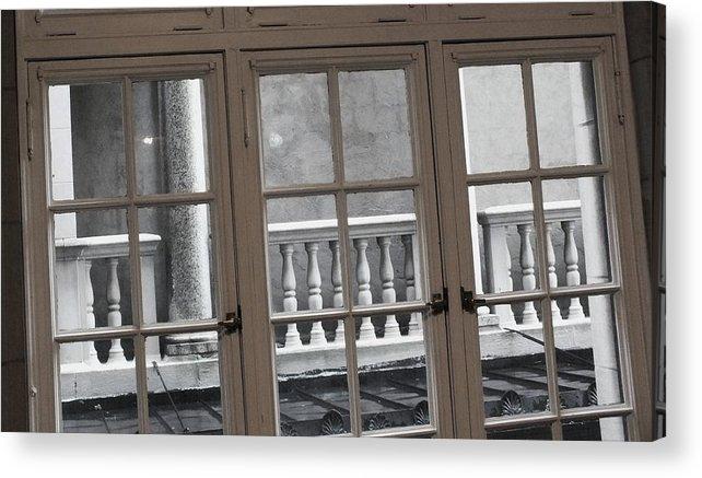 Columns Acrylic Print featuring the photograph Neighbors Baluster by Anna Villarreal Garbis