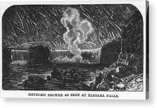 1833 Acrylic Print featuring the photograph Leonid Meteor Shower, 1833 by Granger