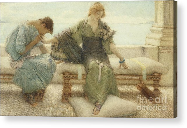 Ask Acrylic Print featuring the painting Ask Me No More....for At A Touch I Yield by Sir Lawrence Alma-Tadema