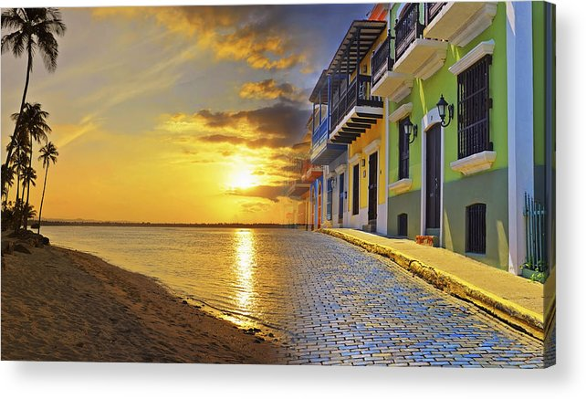 Puerto Rico Acrylic Print featuring the photograph Puerto Rico Montage 1 by Stephen Anderson