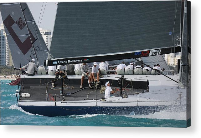 Miami Acrylic Print featuring the photograph Tp52 Regatta by Steven Lapkin