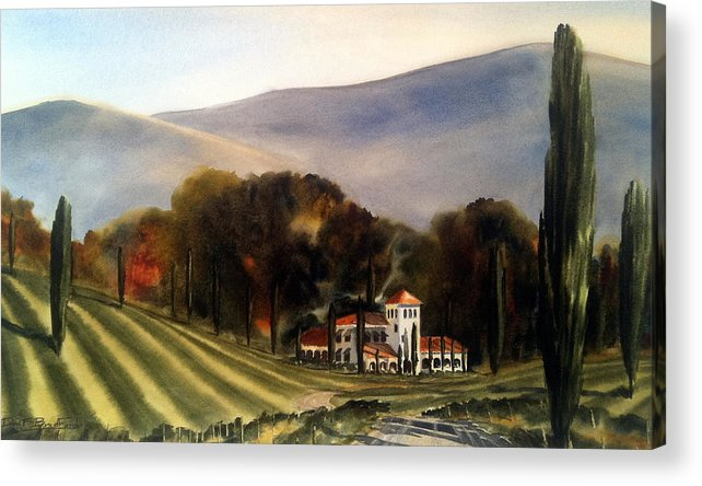 Acrylic Print featuring the painting Vintage Year by Don F Bradford