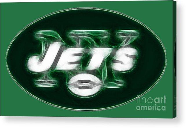 Ny Jets Logo Acrylic Print featuring the photograph Ny Jets Fantasy by Paul Ward