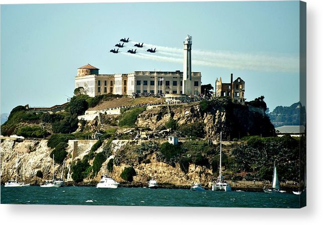 Blue Angels Acrylic Print featuring the photograph Alcatraz Blues by Benjamin Yeager