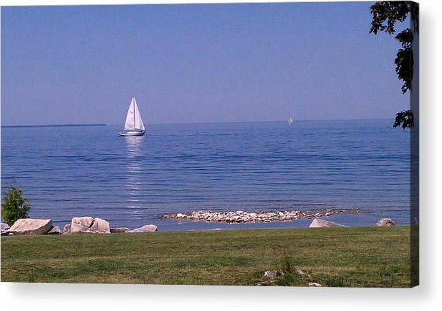Hot Summer Day Acrylic Print featuring the photograph cruisin down the Bay on a Sunday afternoon by Dawn Koepp