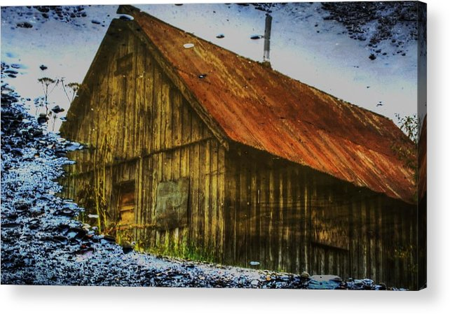 Reflections Acrylic Print featuring the photograph Cabin Reflect by Tom Liesener