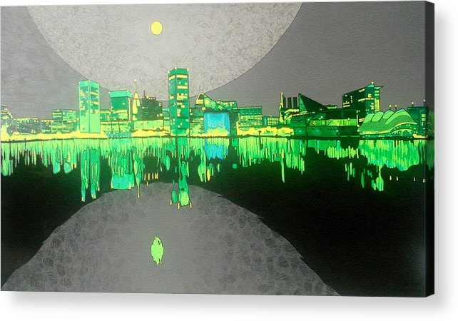 Landscape Acrylic Print featuring the painting Baltimore by Jason Charles Allen