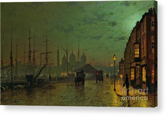 Prince Acrylic Print featuring the painting Prince's Dock Hull by John Atkinson Grimshaw