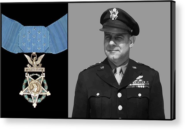 Jimmy Doolittle Acrylic Print featuring the painting Jimmy Doolittle And The Medal Of Honor by War Is Hell Store