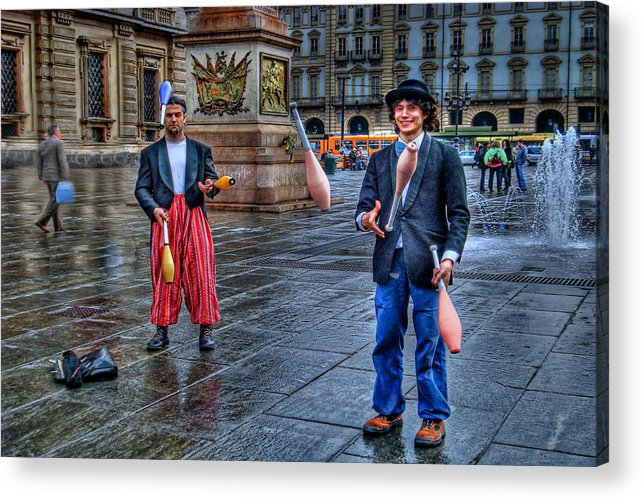 Jugglers Acrylic Print featuring the photograph City Jugglers by Ron Shoshani