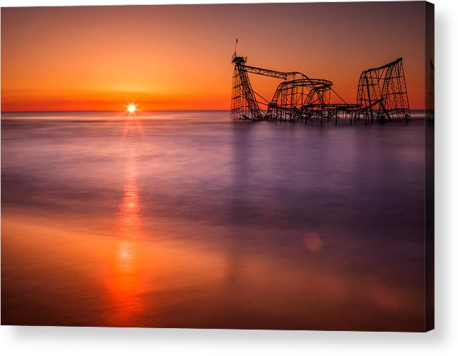 Jet Star Roller Coaster Acrylic Print featuring the photograph The Jet Star by Michael Lawrence