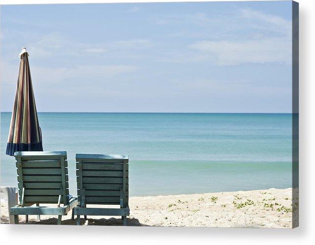 Azure Acrylic Print featuring the photograph Beach Life by Georgia Fowler