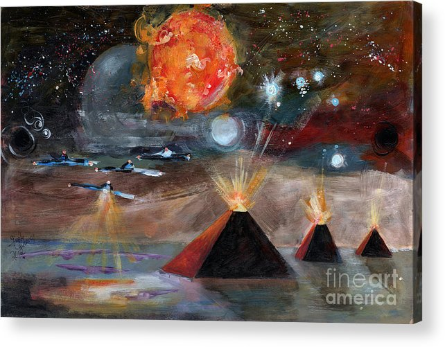 Space Acrylic Print featuring the painting Activation by Ginette Callaway