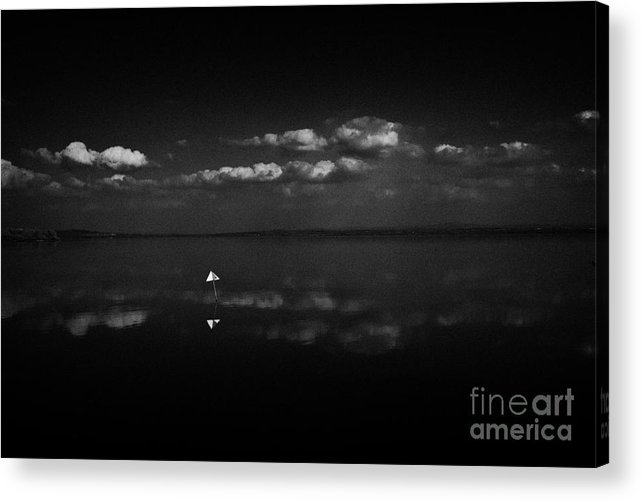 Inland Acrylic Print featuring the photograph Navigation Warning Marker On Still Lough Neagh County Antrim Northern Ireland by Joe Fox