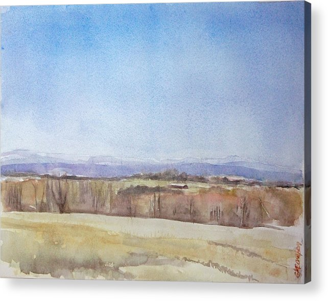 Maine Landscape Acrylic Print featuring the painting Peeper Season by Grace Keown
