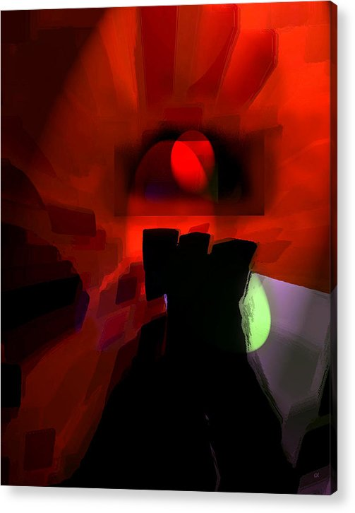 Abstract Digital Art Acrylic Print featuring the digital art Spirit by Gerlinde Keating - Keating Associates Inc