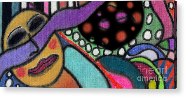Abstract Acrylic Print featuring the pastel Abstract Circular Figure by Christine Perry