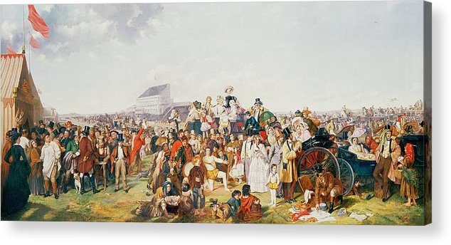 Derby Acrylic Print featuring the painting Derby Day by William Powell Frith