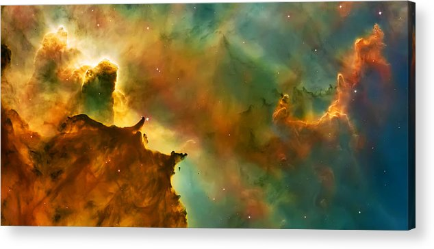 Nasa Images Acrylic Print featuring the photograph Nebula Cloud by The Vault - Jennifer Rondinelli Reilly