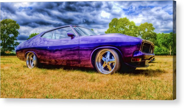 Ford Falcon Coupe Acrylic Print featuring the photograph Purple Falcon Coupe by Phil 'motography' Clark